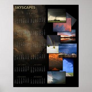 Skyscapes 2005 kalender poster