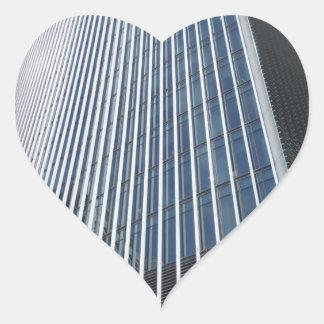 Skyscraper beklär strukturerar hjärtaklistermärken hjärtformat klistermärke