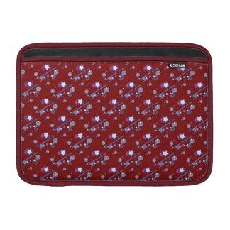 Skyttestjärnor och röd sleeve för komet sleeve för MacBook air