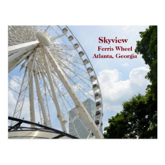 Skyview pariserhjul Atlanta, Georgia Vykort