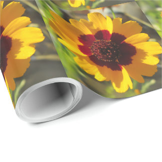 Slå in papper - filtblomma presentpapper