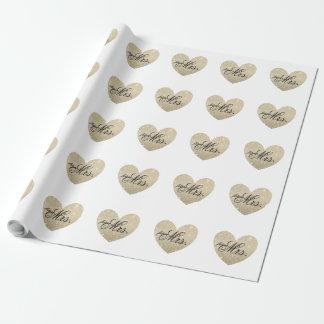 Slå in papper - hjärta Fab framtida Fru Presentpapper