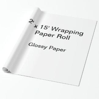 Slå in papper (rulle 2x15, glansigt papper) presentpapper