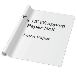 Slå in papper (rulle 2x15, linnepapper) presentpapper