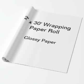 Slå in papper (rulle 2x30, glansigt papper) presentpapper