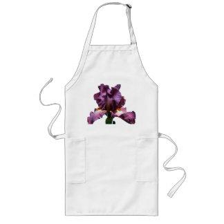Slå purpurfärgad Iris Långt Förkläde