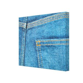 Slågen in kanfas för jeans bakficka canvastryck
