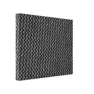 Slågen in kanfas för kol fiber canvastryck