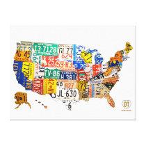 Slågen in kanfas för United States registreringssk Canvasduk Med Gallerikvalitet