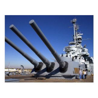 Slagskepp för USS Alabama på slagskeppminnesmärke Vykort