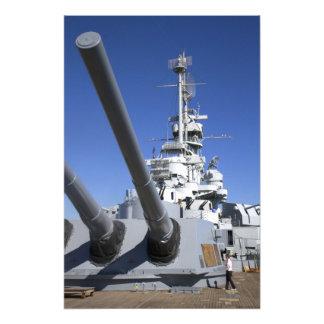 Slagskepp för USS Alabama på slagskeppminnesmärken Fototryck