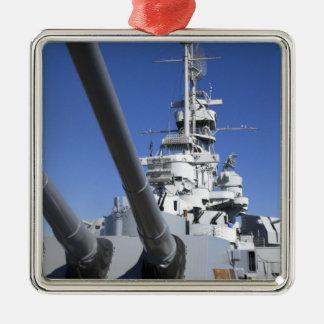 Slagskepp för USS Alabama på slagskeppminnesmärken Julgransprydnad Metall
