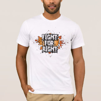 Slagsmål för höger t shirt