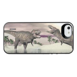 Slagsmål för Tyrannosaurusrexdinosaurs - 3D iPhone SE/5/5s Batteri Skal