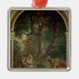 Slagsmål mellan Jacob och ängeln, 1850-61 Julgransprydnad Metall