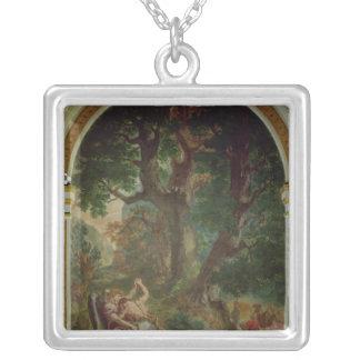 Slagsmål mellan Jacob och ängeln, 1850-61 Silverpläterat Halsband