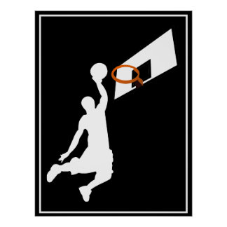 Slam dunkbasketspelare poster