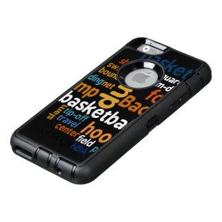 Slamen reser snyggt för text för OtterBox defender iPhone skal