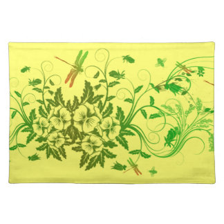 Slända- och blommigtbordstablett bordstablett
