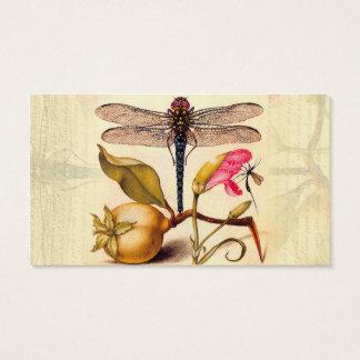 Slända, Pear, nejlika och insekt Visitkort