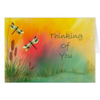 Sländan som är tänkande av dig, Card Hälsningskort