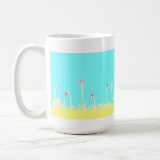 Sländor och blommakaffemugg kaffemugg