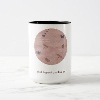 Sländor och fjärilar Två-Tonad mugg
