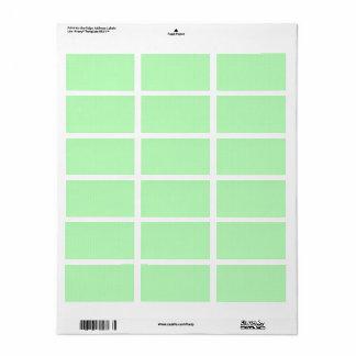 Slanka 100: Konstnärliga mjuka färgmönster Adressetikett