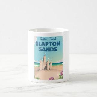 Slapton Sands, Devon sandcastlevintage affisch Vit Mugg