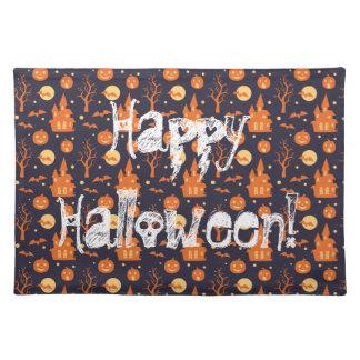 Slår till det spöklika huset för happy halloween bordstablett