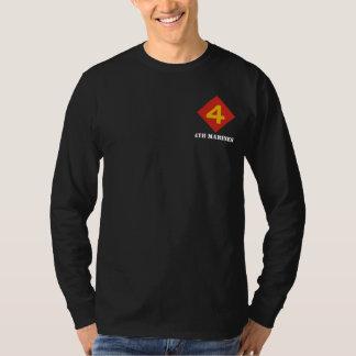 """""""Slåss Fourth"""" långärmadutslagsplats T Shirts"""