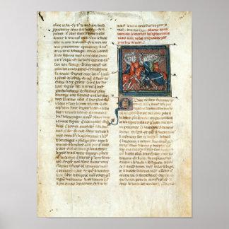 Slåss mellan riddare, från 'romerska d'Artus Poster
