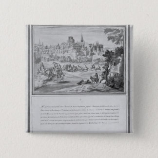 Slåss på Porte Sainte-Antoine, 2nd Juli 1652 Standard Kanpp Fyrkantig 5.1 Cm