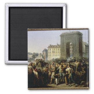 Slåss på Porten Sanktt-Denis, 28th Juli 1830 Magnet
