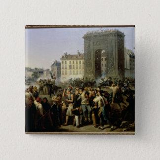 Slåss på Porten Sanktt-Denis, 28th Juli 1830 Standard Kanpp Fyrkantig 5.1 Cm