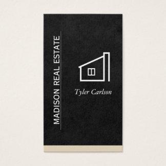 Slät svart/beigeklippning/hem- logotyp visitkort