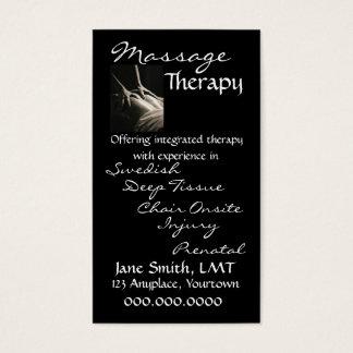 Slät svart för massageterapi visitkort