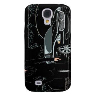 Slät (svart) iphone 3 för stil galaxy s4 fodral