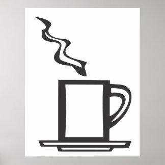 Släta kaffemuggen affischer