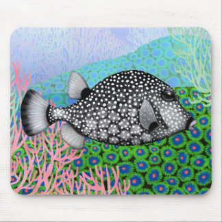 Släta trunkfishen i korallreven Mousepad Musmatta