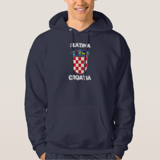 Slatina Kroatien med vapenskölden Tröja Med Luva