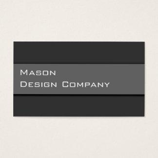 Slätt två tonar det gråa företags stilfulla kortet