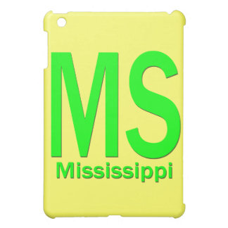 Slättgrönt för ms Mississippi iPad Mini Mobil Skal
