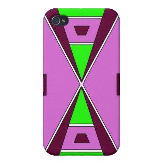 SlättindianBeadwork - lila/grönt iPhone 4 Cases