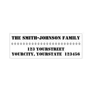 Slättpersonligefternamn + Adress Självfärgande Stämpel