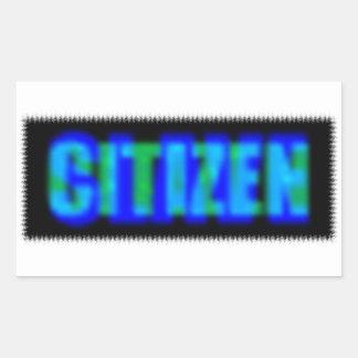 Slav- medborgare rektangulärt klistermärke