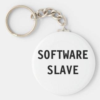 Slav- nyckelringsoftware rund nyckelring