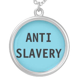 SlaveriTurquois för halsband Anti blått