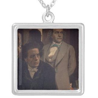 Slavonic kompositörer silverpläterat halsband