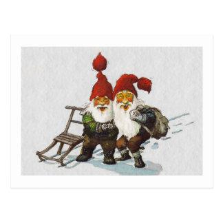 Sledding för Julenisse vänner Vykort